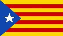 "CATALAN INDEPENDENCE - 18"" X 12"" FLAG"